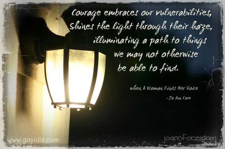 courage embraces