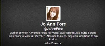 Jo Ann on Twitter