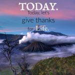 Give thanks for life